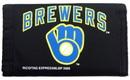 Milwaukee Brewers Nylon Trifold Wallet