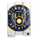 Milwaukee Brewers Sign 11x17 Wood Fence Style