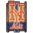 New York Mets Sign 11x17 Wood Fence Style