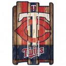 Minnesota Twins Sign 11x17 Wood Fence Style
