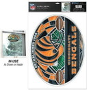 Cincinnati Bengals Decal 11x17 Multi Use stained Glass Style