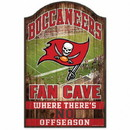 Tampa Bay Buccaneers Sign 11x17 Wood Fan Cave Design