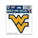 West Virginia Mountaineers Decal 3x4 Multi Use Color