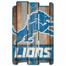 Detroit Lions Sign 11x17 Wood Fence Style