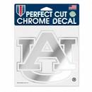 Auburn Tigers Decal 6x6 Perfect Cut Chrome