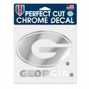 Georgia Bulldogs Decal 6x6 Perfect Cut Chrome