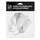 Chicago Blackhawks Decal 6x6 Perfect Cut Chrome