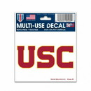 USC Trojans Decal 3x4 Multi Use Color Special Order
