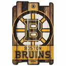 Boston Bruins Sign 11x17 Wood Fence Style
