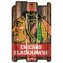 Chicago Blackhawks Wood Fence Sign