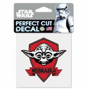 Nebraska Cornhuskers Decal 4x4 Perfect Cut Star Wars Yoda
