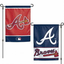 Atlanta Braves Flag 12x18 Garden Style 2 Sided