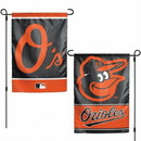Baltimore Orioles Flag 12x18 Garden Style 2 Sided