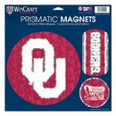 Oklahoma Sooners Magnets 11x11 Prismatic Sheet