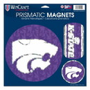 Kansas State Wildcats Magnets 11x11 Prismatic Sheet