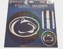 Penn State Nittany Lions Magnets 11x11 Die Cut Prismatic Set of 3