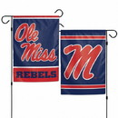 Mississippi Rebels Flag 12x18 Garden Style 2 Sided