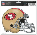 San Francisco 49ers Decal 5x6 Ultra Color