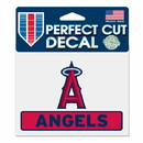 Los Angeles Angels Decal 4.5x5.75 Perfect Cut Color
