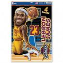 Cleveland Cavaliers Decal 11x17 Multi Use LeBron James Caricature Design