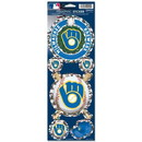Milwaukee Brewers Decal 4x11 Die Cut Prismatic Style Retro Design - Special Order