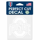 Ohio State Buckeyes Decal 4x4 Perfect Cut White Special Order