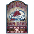 Colorado Avalanche Sign 11x17 Wood Fan Cave Design Special Order