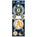 Oakland Athletics Decal 4x11 Die Cut Prismatic Style Special Order