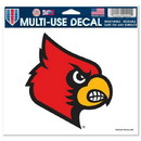 Louisville Cardinals Decal 5x6 Color