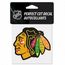 Chicago Blackhawks Decal 4x4 Perfect Cut Color