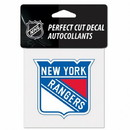 New York Rangers Decal 4x4 Perfect Cut Color