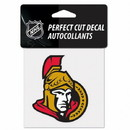 Ottawa Senators Decal 4x4 Perfect Cut Color