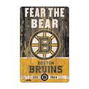 Boston Bruins Sign 11x17 Wood Slogan Design