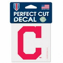 Cleveland Indians Decal 4x4 Perfect Cut Color - C logo