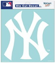 New York Yankees Decal 8x8 Die Cut White