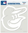 Baltimore Orioles Decal 8x8 Die Cut White