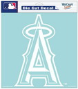 Los Angeles Angels of Anaheim Decal 8x8 Die Cut White