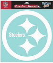 Pittsburgh Steelers Decal 8x8 Die Cut White