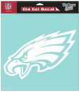 Philadelphia Eagles Decal 8x8 Die Cut White