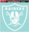 Oakland Raiders Decal 8x8 Die Cut White
