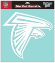 Atlanta Falcons Decal 8x8 Die Cut White