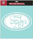 San Francisco 49ers Decal 8x8 Die Cut White