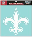 New Orleans Saints Decal 8x8 Die Cut White