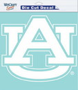 Auburn Tigers Decal 8x8 Die Cut White