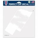 Nebraska Cornhuskers Decal 8x8 Die Cut White