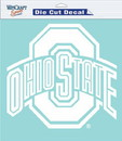 Ohio State Buckeyes Decal 8x8 Die Cut White