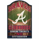 Atlanta Braves Sign 11x17 Wood Fan Cave Design