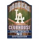 Los Angeles Dodgers Sign 11x17 Wood Fan Cave Design
