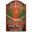San Francisco Giants Sign 11x17 Wood Fan Cave Design