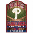 Philadelphia Phillies Sign 11x17 Wood Fan Cave Design